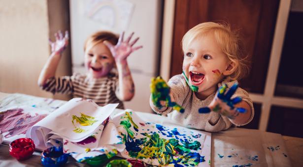 Une palette de peinture pour enfant 100% récup'