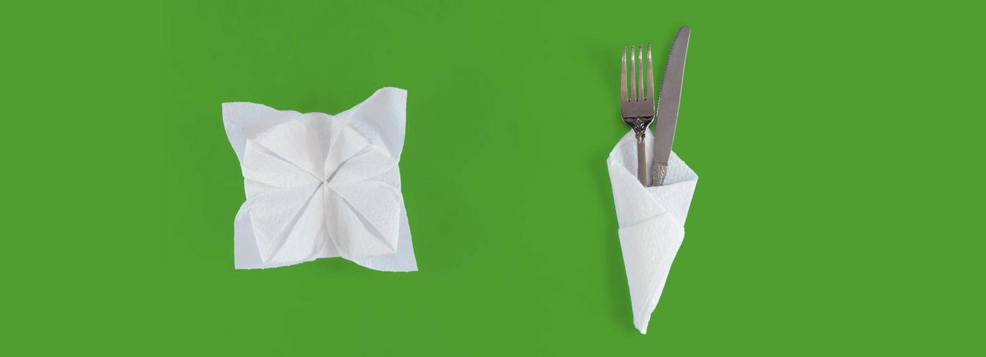 2 Pliages De Serviette En Papier Faciles Pas A Pas Okay