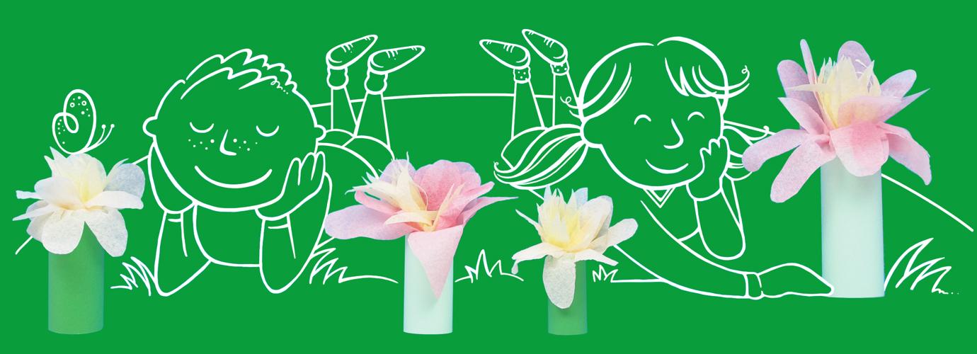 Papieren bloemen maken met je kinderen
