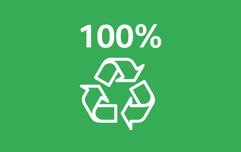 Des emballages 100 % recyclables