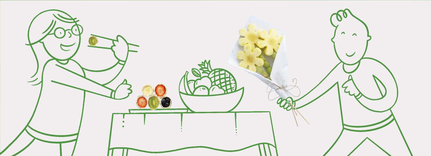 bouquet de fruits pour enfants